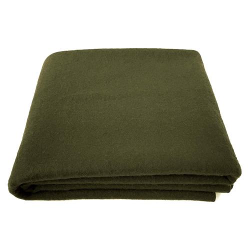 EKTOS 90% Wool Blanket, Olive Green, Warm & Heavy 4.0 lbs, L