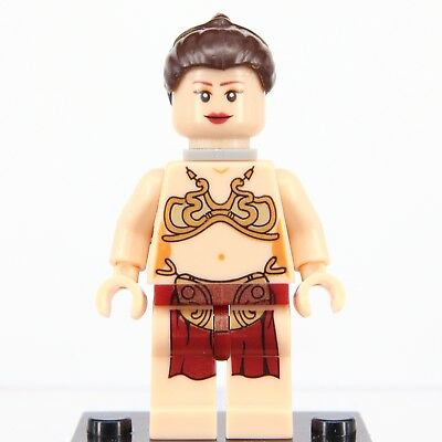 Star Wars-slave Leia (Custom Star Wars Slave Leia Hero DC MARVEL Fit Lego Minifigures Mini Figure)