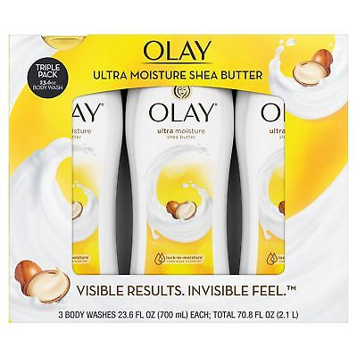 Olay Ultra Moisture Body Wash with SHEA BUTTER 3 PACK 23.6 O