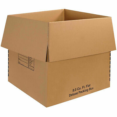 24 X 24 X 24 Deluxe Packing Boxes 65 Lbs Capacity 200ect-32 Lot Of 10
