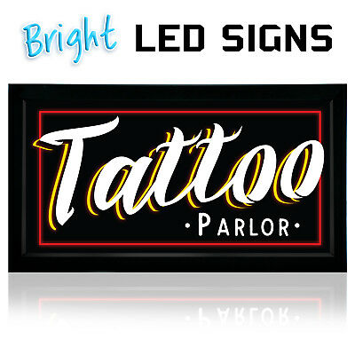 Tattoo Led Neon Sign Parlor 12x 24- New Bright Led Sign- Store Sign Business