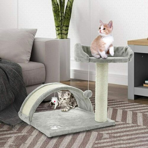 ScratchMe Tree Condo with Scratching Post Cat Tower Pet Play