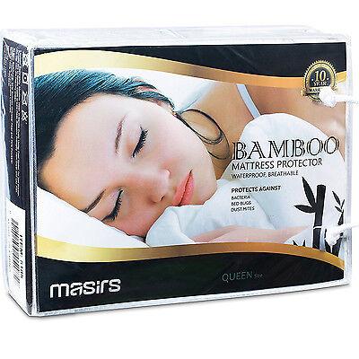 Bamboo Mattress Protector Waterproof Cooling Matress Quiet C