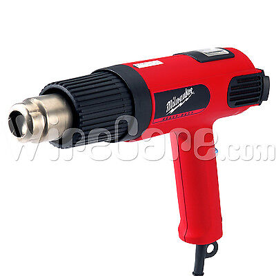 Milwaukee- Heavy Duty Variable Temp. Heat Gun Led Display