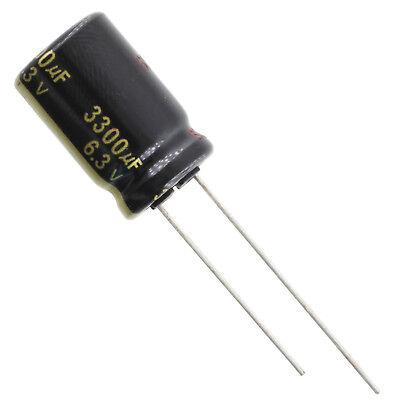 Panasonic Fm Series 105c Electrolytic Capacitor 3300uf 6.3v Radial Leads