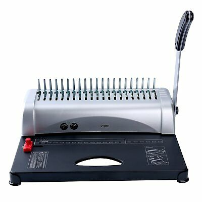 New 21-hole 450 Sheets Binding Machine Paper Comb Punch Binder Yaekoo Scrapbook