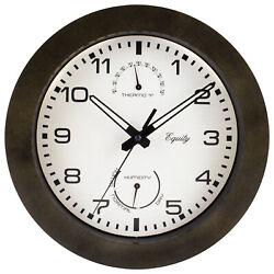 29005 Equity by La Crosse 10 Indoor/Outdoor Analog Wall Clock - Refurbished