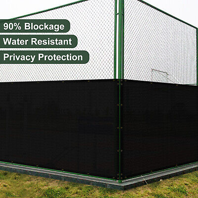 Privacy Fence Screen Heavy Duty 130GSM for Outdoor Back Yard Patio Deck Black ()