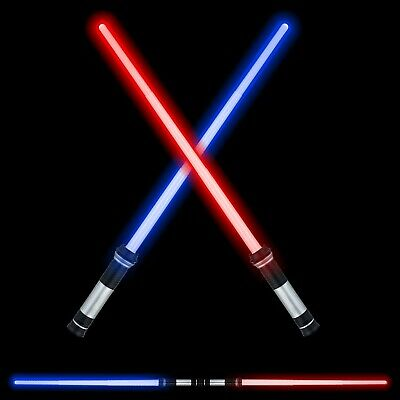 FEROXO LED Light Saber Glow Sword - 2-in-1 FX Double Bladed Dual Sabers with ...