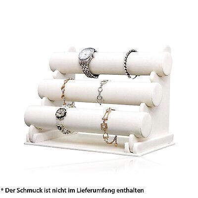 HSM Schmuckständer Schmuckhalter Schmuckaufbewahrung weiß Armbandständer für Uhr