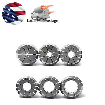 6pcs 45 Steel Er32 Precision Collet 18 To 34 Cnc Milling Lathe In Us