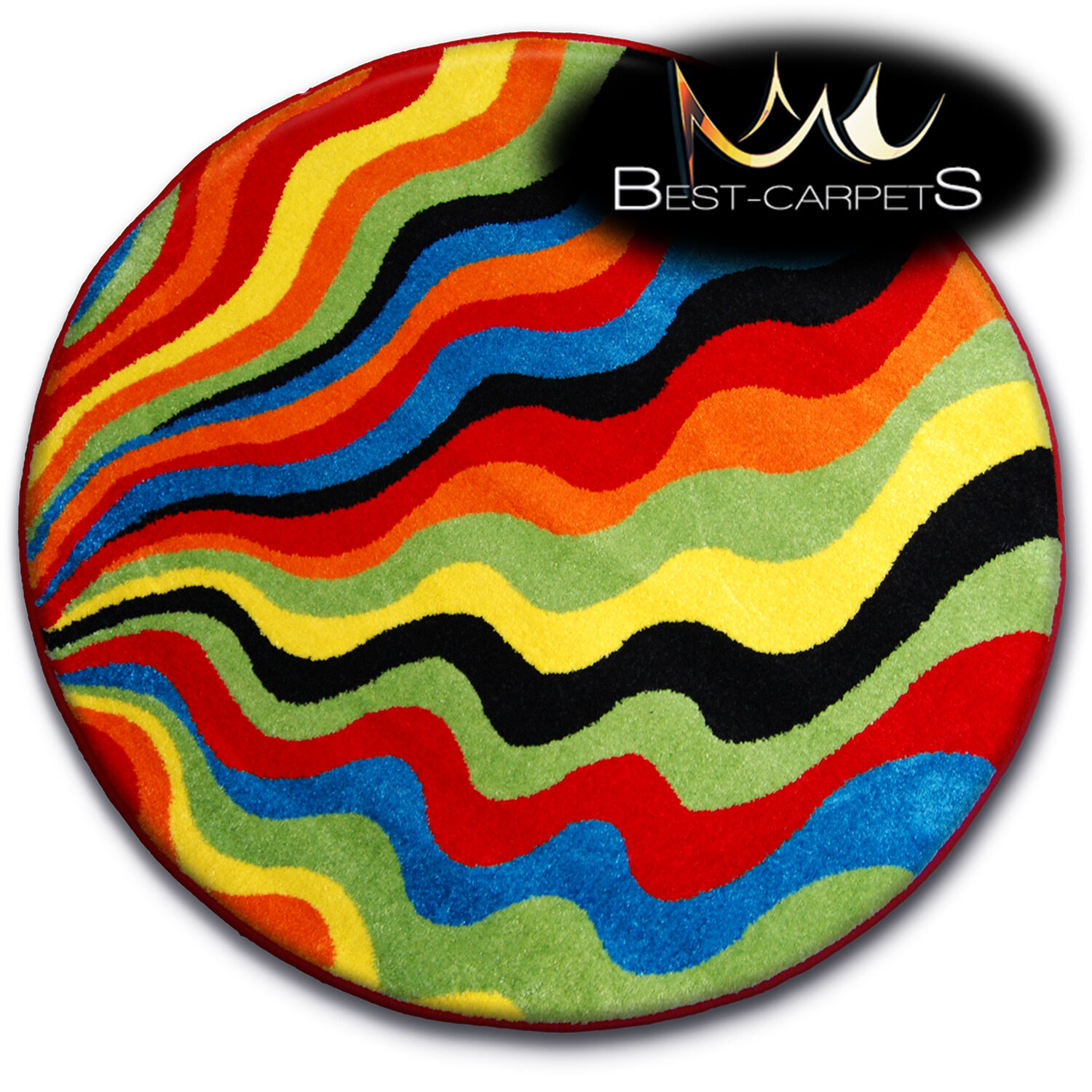 Thick MODERN RUGS 'PAINT' CARPETS ORIGINAL COLORFUL Circle C