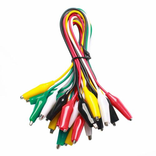 WGGE WG-026 10 Pieces and 5 Color Test Lead Set with Alligator Clips Wire solded