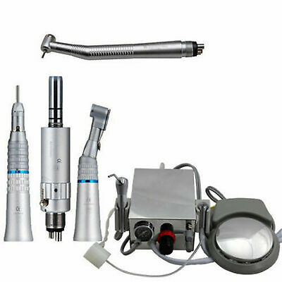Dental Portable Turbine Unit High Slow Speed Handpiece Kit 4-holes For Lab Usa