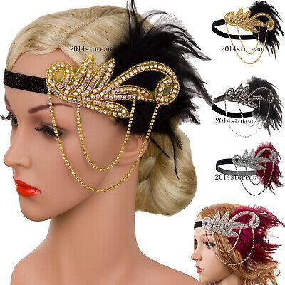Great Gatsby Headpiece (20s Headpiece Vintage 1920s Headband Flapper Great Gatsby Party Hair)