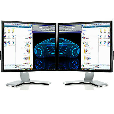 "2X 19"" LCD DUAL MONITOR MATCHING SCREEN COMPUTER PC  TFT VGA 19 INCH GRADE A -SP"