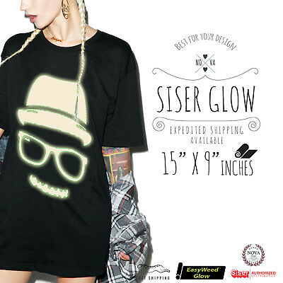 Siser Easyweed Glow In The Dark Heat Transfer Vinyl 15x 9