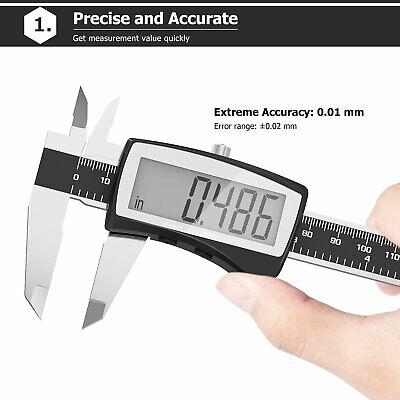 Caliper Digital Stainless Steel Electronic Lcd Micrometer Measuring 0-6150mm