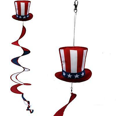 USA Patriotic Wind Spinner Decoration - Uncle Sam Hat Garden Decoration 6