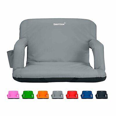 Driftsun Folding Stadium Seat, Reclining Bleacher Chair Folding Stadium Bleacher Seats