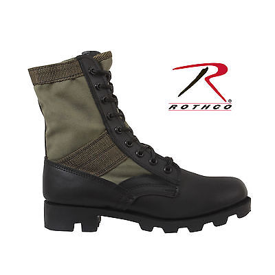 Olive Drab  Military Style Tactical Leather Jungle Boots-8