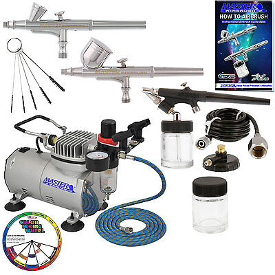 3 Master Airbrush Professional Airbrushing System Kit - Mult
