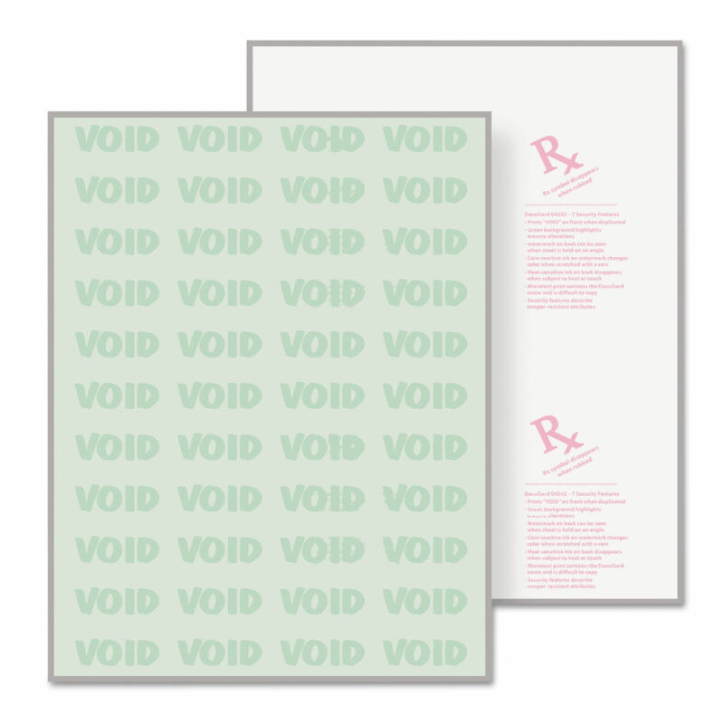 DocuGard Security Paper 8-1/2 x 11 Green 500/Ream 04542