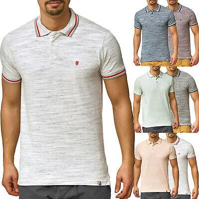 INDICODE Herren Poloshirt Slim Fit Kurzarm T-Shirt Hemd Polo Tank Top Golf S-XXL