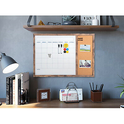 Dry Erase Calendar Bulletin Board Wall Whiteboard Corkboard Monthly Planner