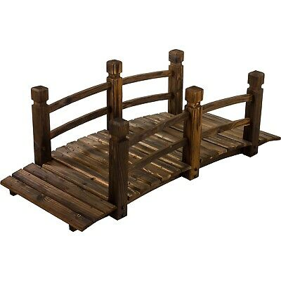 XXL Solid Wooden Bridge Teichbrücke Garden Oiled 150cm Long
