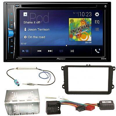 Pioneer AVH-A200BT USB MP3 Bluetooth CD Einbauset für Skoda Fabia Roomster Prakt ()
