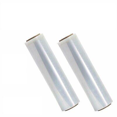 18 X 1500 80 Gauge Pallet Wrap Stretch Film Hand Shrink Wrap 1500ft 2 Roll