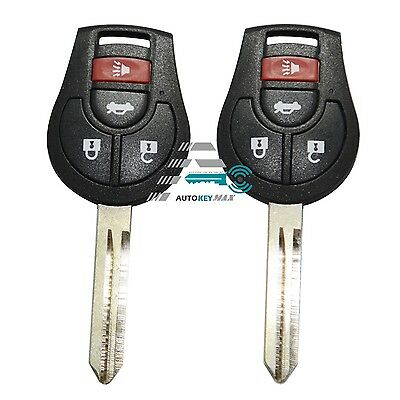 2 New Replacement Keyless Entry Remote Car Uncut Key Fob Control for CWTWB1U751