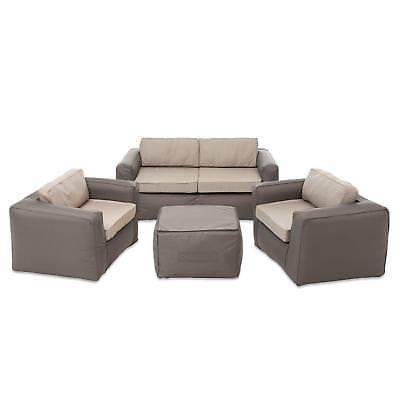 Sitzgruppe Lounge Set Gartenmöbel Terrasse Outdoor Nomad Braun/Beige,  Aufblasbar