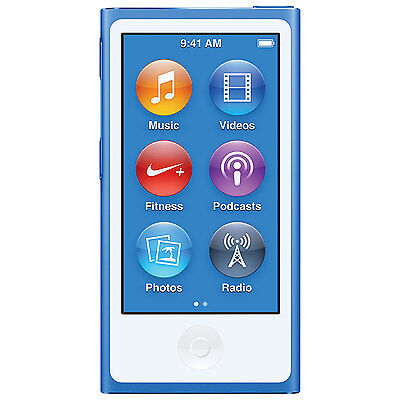 Apple iPod nano 7th new release Blue (16GB) (present day mannequin)