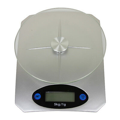 Digital Kitchen Scale for Measuring Food Portion, LCD Display Glass Top Platform