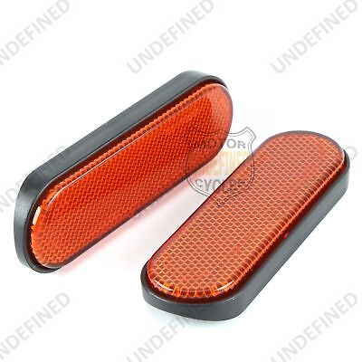 2X Motorcycle Orange Front Fork Reflector For Victory Jackpot Gunner High Ball