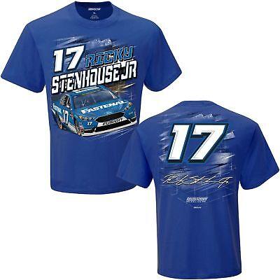 2018 Ricky Stenhouse Jr  17 Fastenal Blue Short Sleeve Torque Tee Shirt