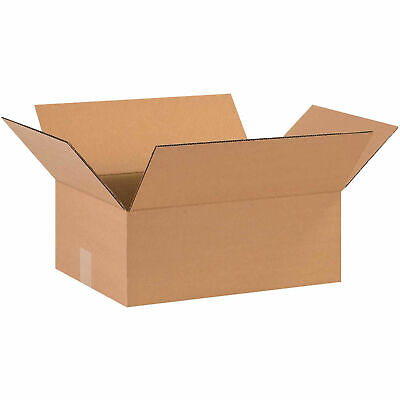 16 X 12 X 6 Flat Cardboard Corrugated Boxes 65 Lbs Capacity Ect-32 Lot Of