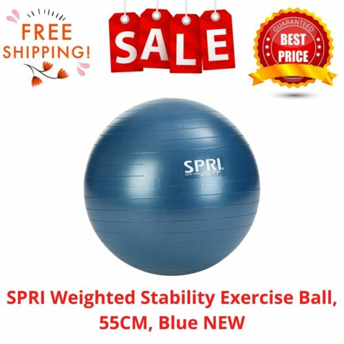 SPRI Weighted Stability Exercise Ball, 55CM, Blue NEW