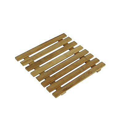 Bamboo Square Heat Resistant Trivet Pot Mat Coaster Holder Placemat New