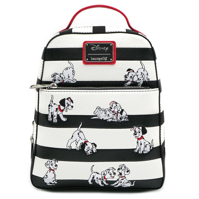 Loungefly Disney 101 Dalmatians Striped Faux Leather Mini Ba