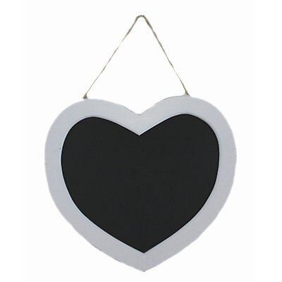 GISELA GRAHAM KITCHEN MEMO BOARD MESSAGE CHALKBOARD WHITE WOOD HANGING HEART