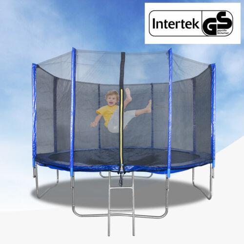 366cm Trampolin Gartentrampolin Sporttrampolin Komplettset Netz Leiter bis 150kg