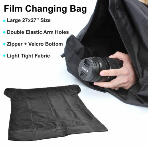"27x27"" Large Film Changing Bag Dark Room Film Load Photography Darkroom Photo"