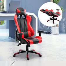 PU Office Chair Race Car Style High-back Ergonomic Gaming Swivel Seat