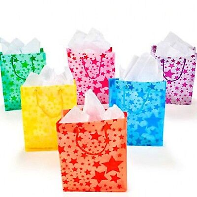 Frosted Star Gift Bags