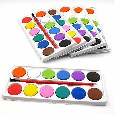 Mini Color Plate For Kids With Brush Birthday Return Gift Pack of 12 - Return Gifts For Kids