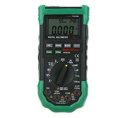 Mastech Ms8229 Auto Range Digital Multimeter Dmm 5 In 1 Multitester