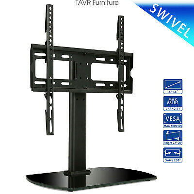 Table top TV Stand with Swivel Mount for 27''-55'' LED LCD Flat Screen TVs Flat Screen Swivel Stand